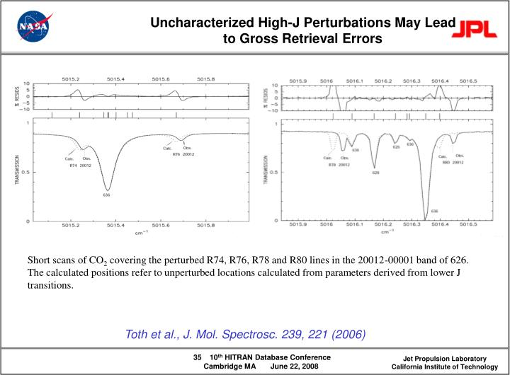 Uncharacterized High-J Perturbations May Lead to Gross Retrieval Errors