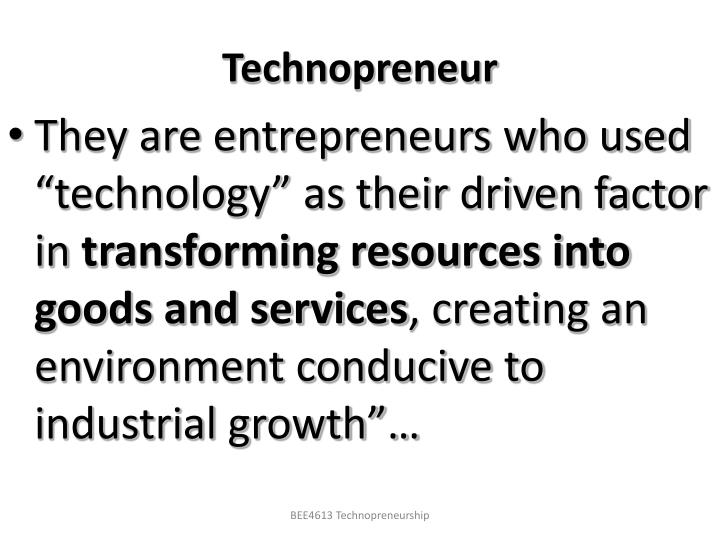 Technopreneur