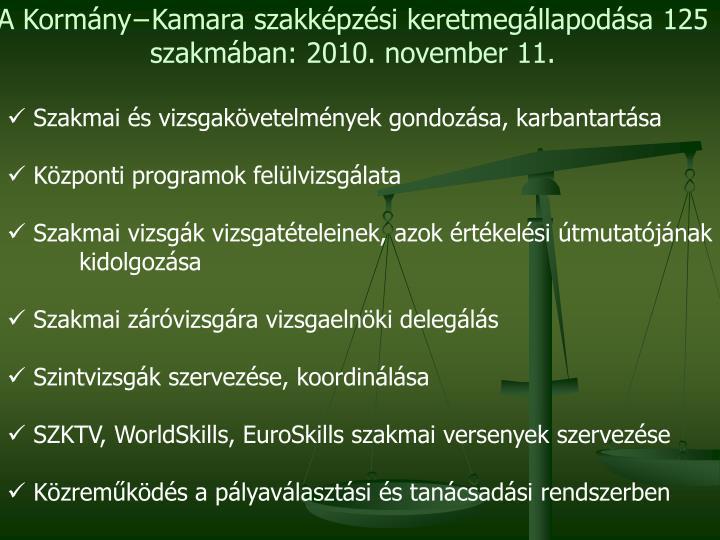 A Kormány−Kamara szakképzési