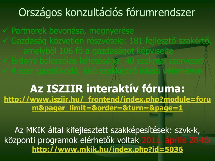 Országos konzultációs fórumrendszer