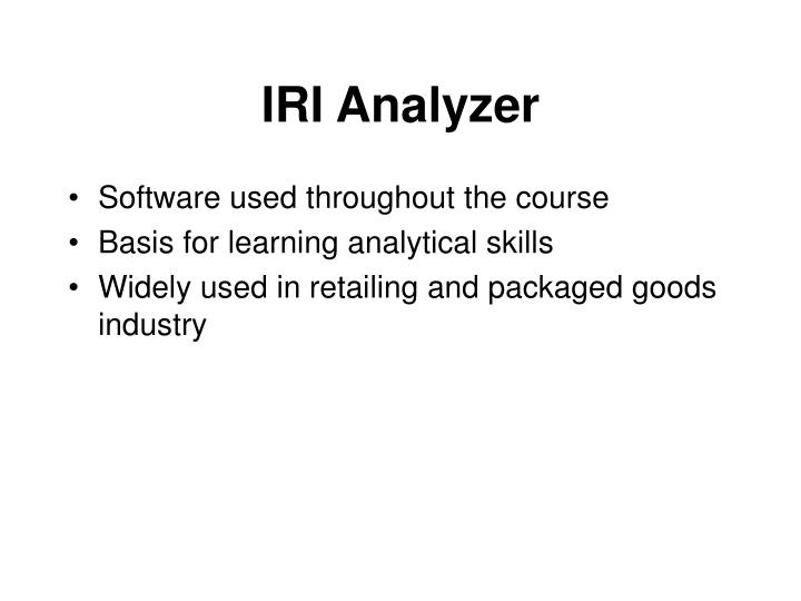 IRI Analyzer