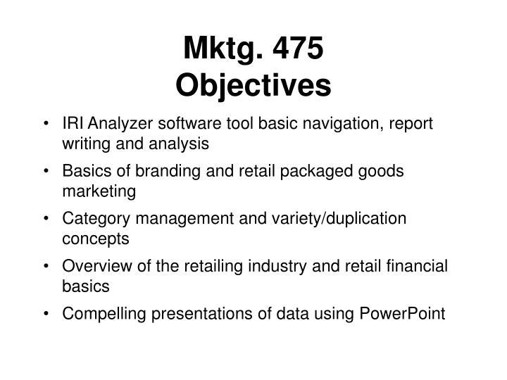 Mktg. 475
