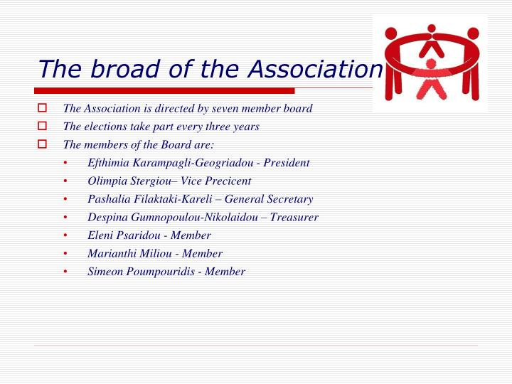 The broad of the Association