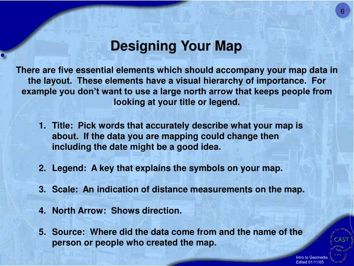 Designing Your Map