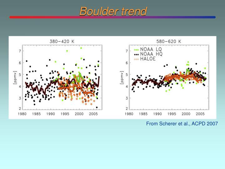 Boulder trend