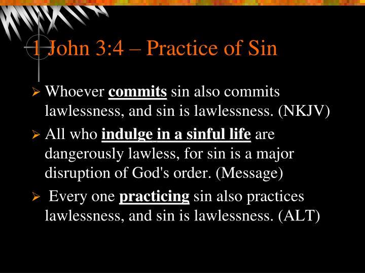 1 John 3:4 – Practice of Sin