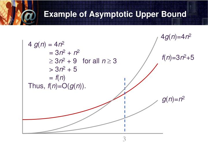 Example of Asymptotic Upper Bound