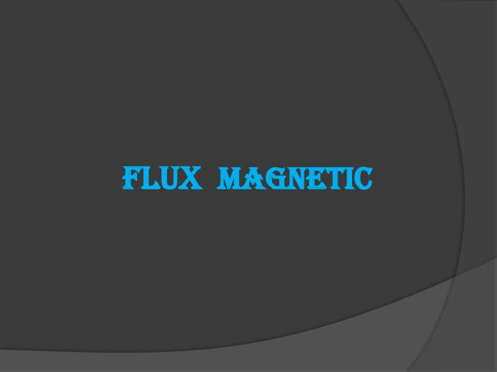 flux magnetic