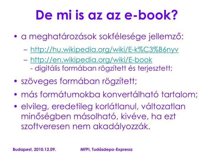 De mi is az az e-book?