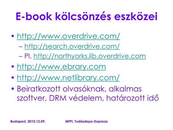 E-book kölcsönzés eszközei