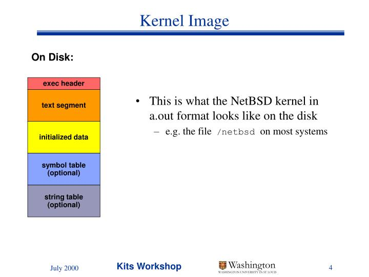 This is what the NetBSD kernel in a.out format looks like on the disk