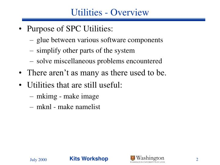 Utilities - Overview