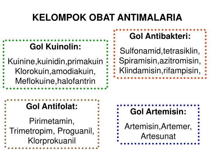 KELOMPOK OBAT ANTIMALARIA