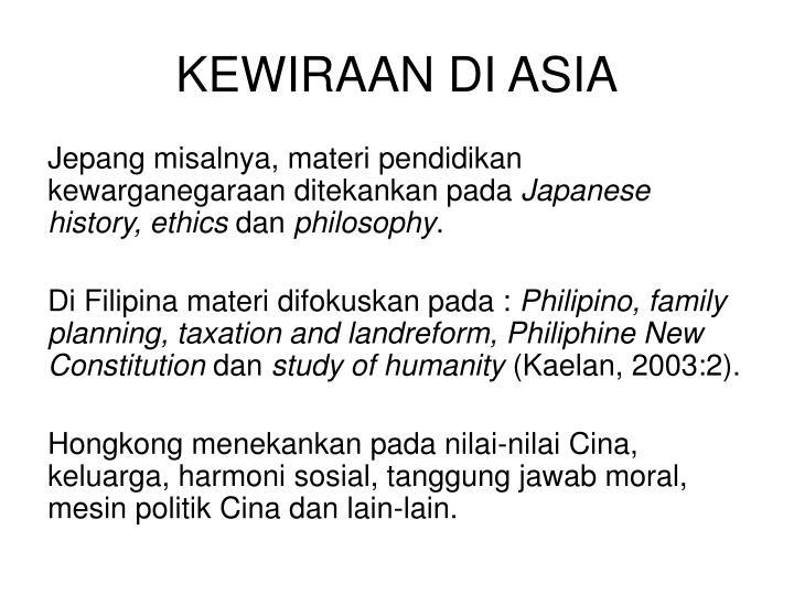 KEWIRAAN DI ASIA