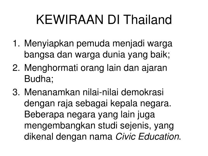 KEWIRAAN DI Thailand