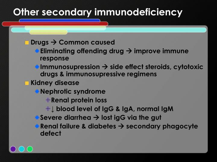 Other secondary immunodeficiency