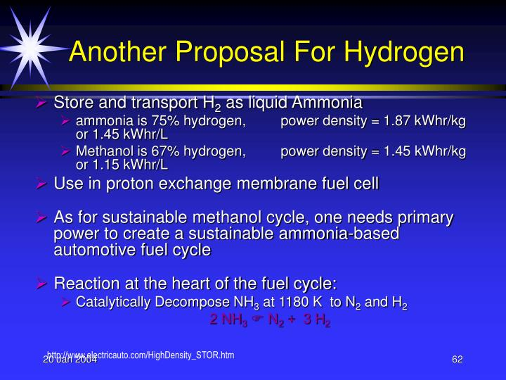 Another Proposal For Hydrogen