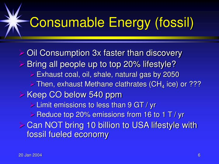 Consumable Energy (fossil)