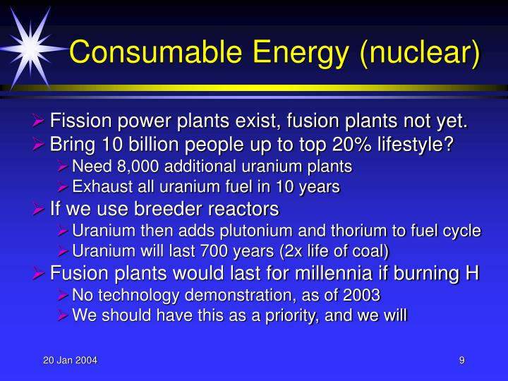 Consumable Energy (nuclear)