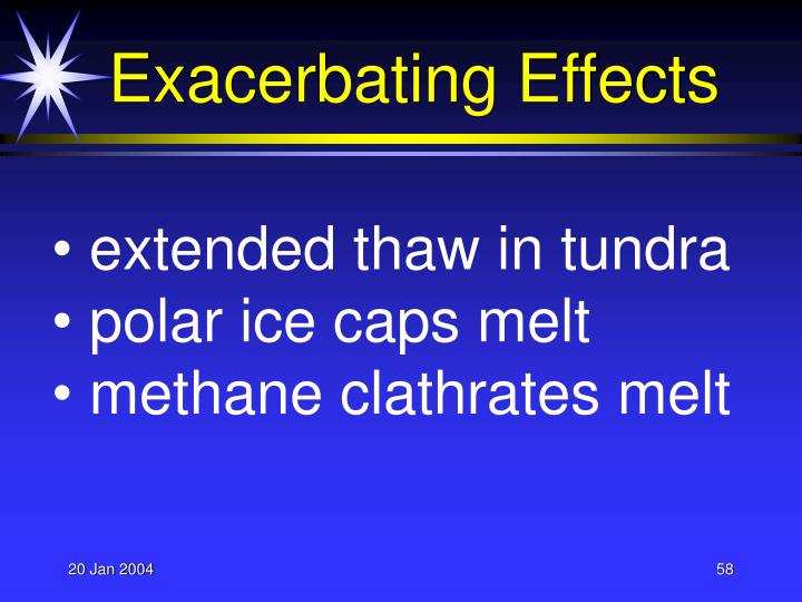 Exacerbating Effects