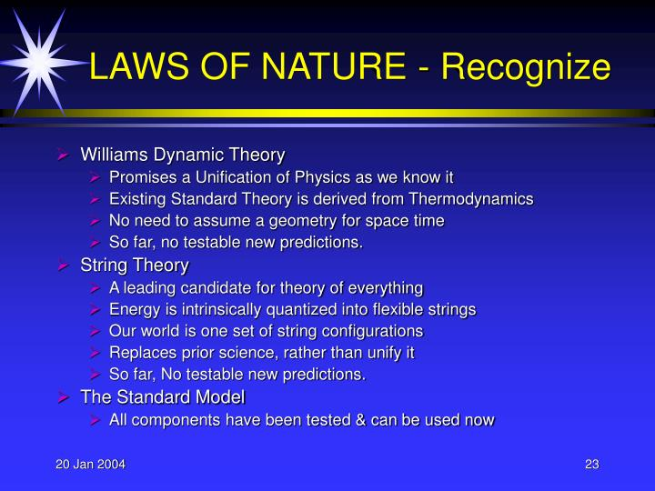 Williams Dynamic Theory