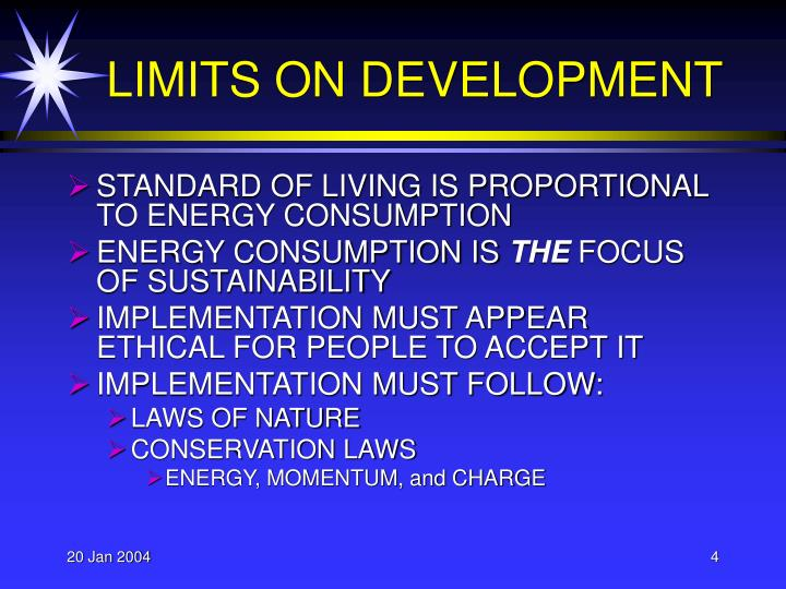 LIMITS ON DEVELOPMENT