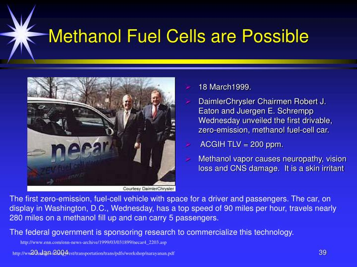 Methanol Fuel Cells are Possible