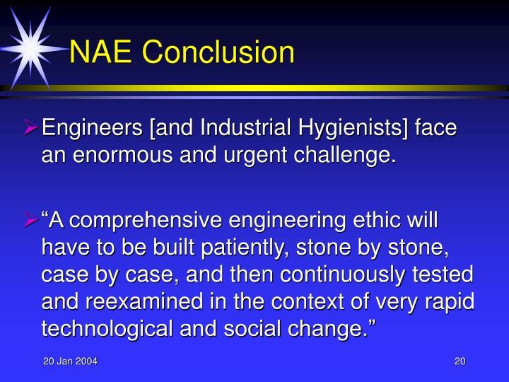 NAE Conclusion