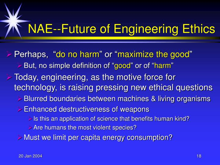 NAE--Future of Engineering Ethics