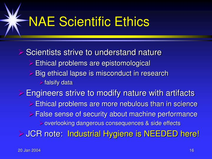 NAE Scientific Ethics
