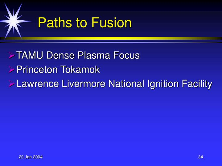 Paths to Fusion