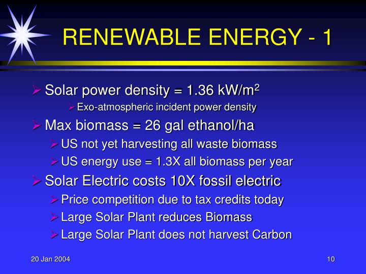 RENEWABLE ENERGY - 1
