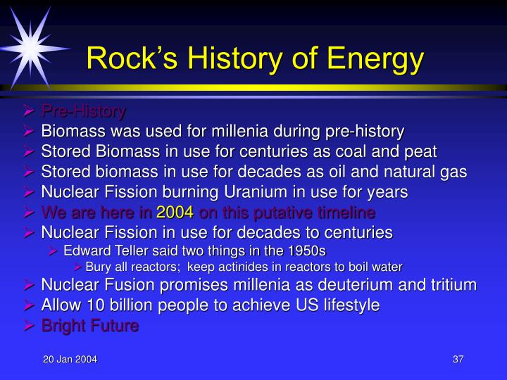 Rock's History of Energy