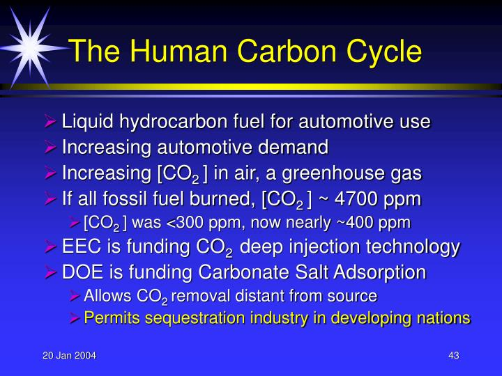 The Human Carbon Cycle