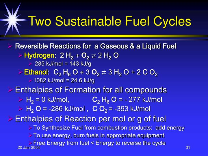 Two Sustainable Fuel Cycles