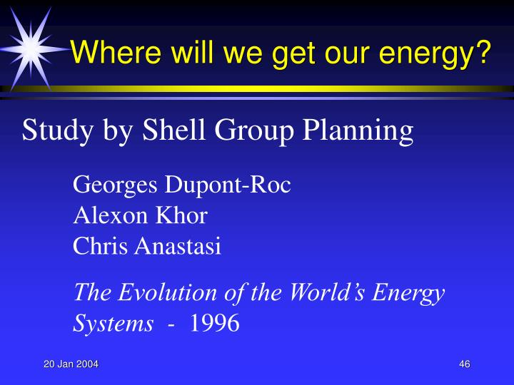 Where will we get our energy?