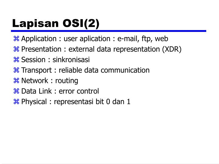 Lapisan OSI(2)