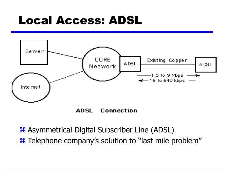 Local Access: ADSL