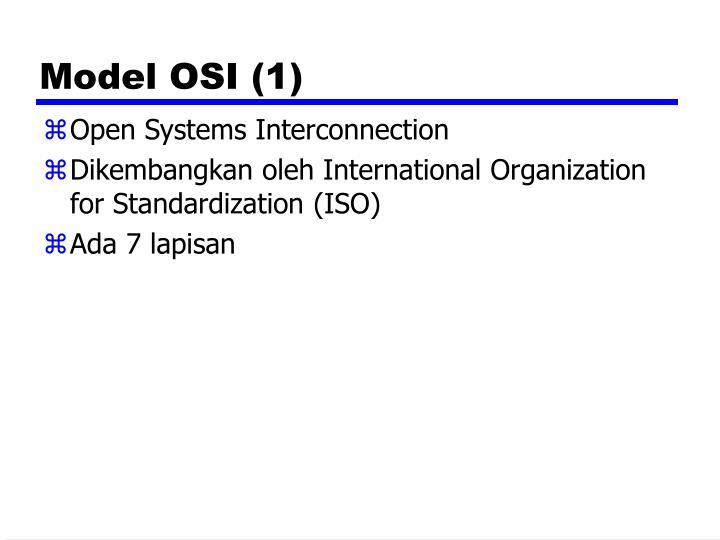Model OSI (1)