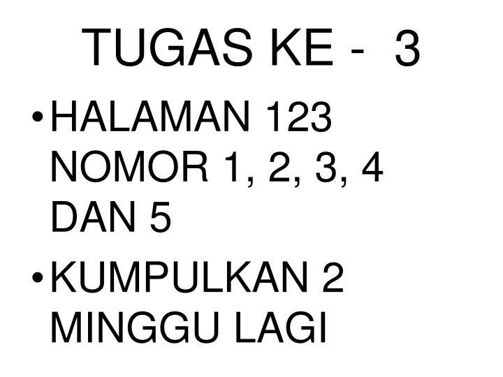 TUGAS KE -  3