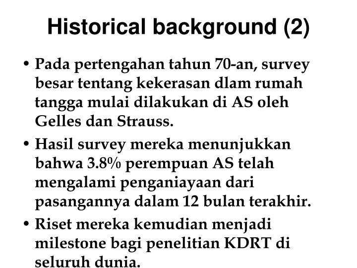 Historical background (2)