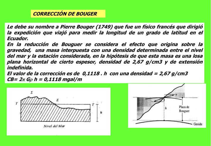 CORRECCIÓN DE BOUGER
