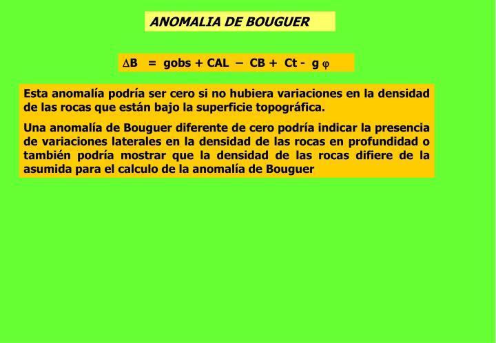 ANOMALIA DE BOUGUER