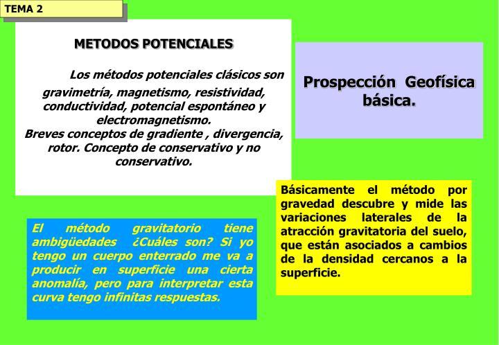 METODOS POTENCIALES