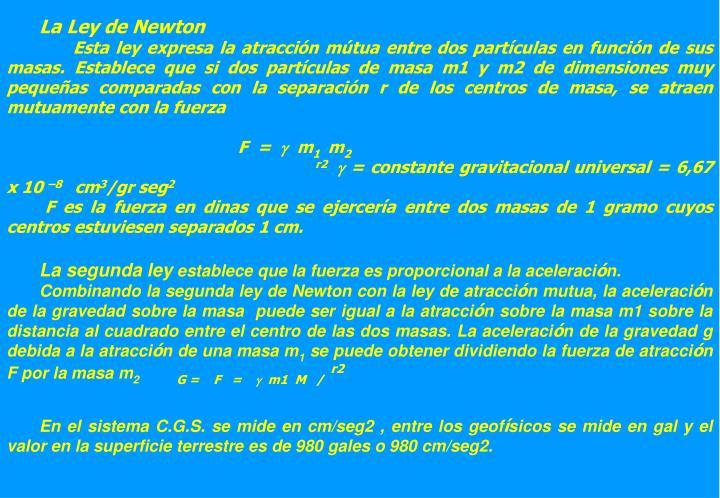 La Ley de Newton