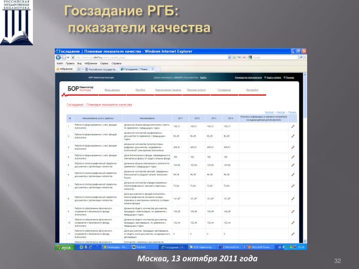 Госзадание РГБ: