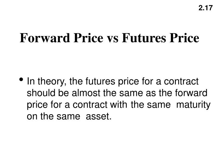 Forward Price vs Futures Price