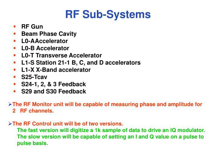 RF Sub-Systems