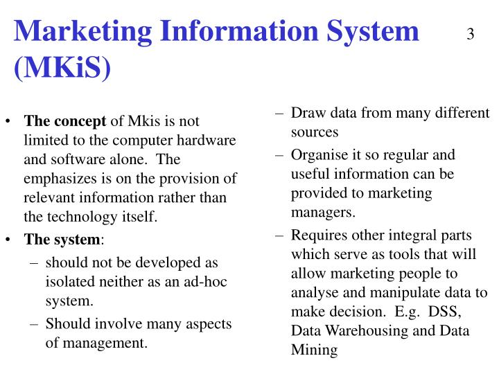 Marketing information system mkis2