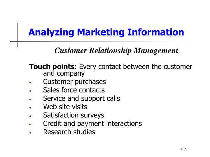 Analyzing Marketing Information